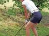 © Stella Pictures, Stockholm, Sverige,  Foto: Stefan Sˆderstrˆm/Stella Pictures    Tone Bekkestad pChristos Masters, k‰ndisgolf festen som anordnades pUllna golfbana den 10:e Augusti 2004
